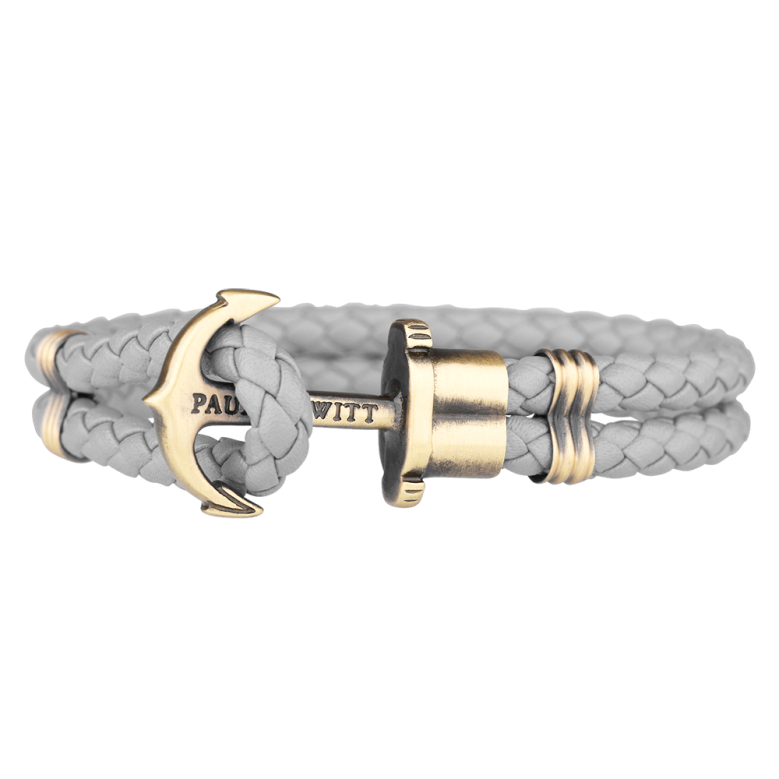 Paul Hewitt Brass Anchor Leather Bracelet (Grey) Mpc 89.00 KM