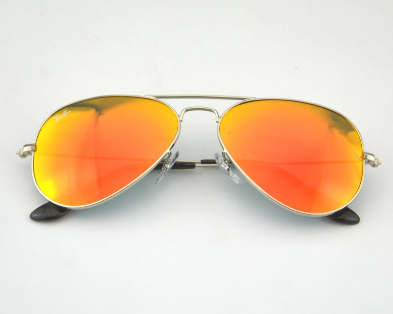Ray Ban RB 3025 Aviator Mirror 003 69 Silver Frame Orange Mirror Glass
