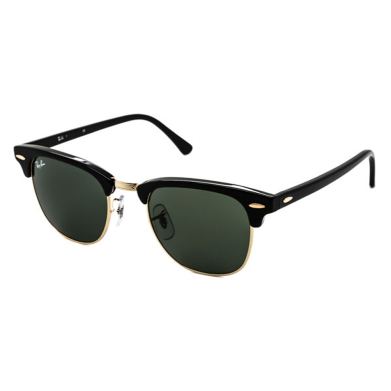 Ray-Ban RB3016 Clubmaster W0365 Sunglasses in Black Gold