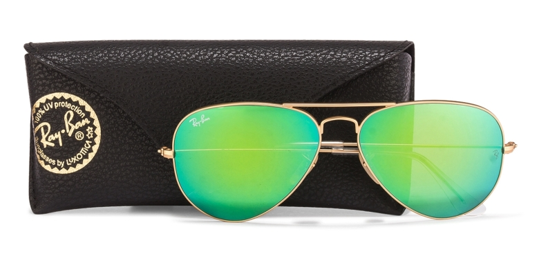 Ray Ban RB3025 112-19 Green Mirror Aviator Sunglasses